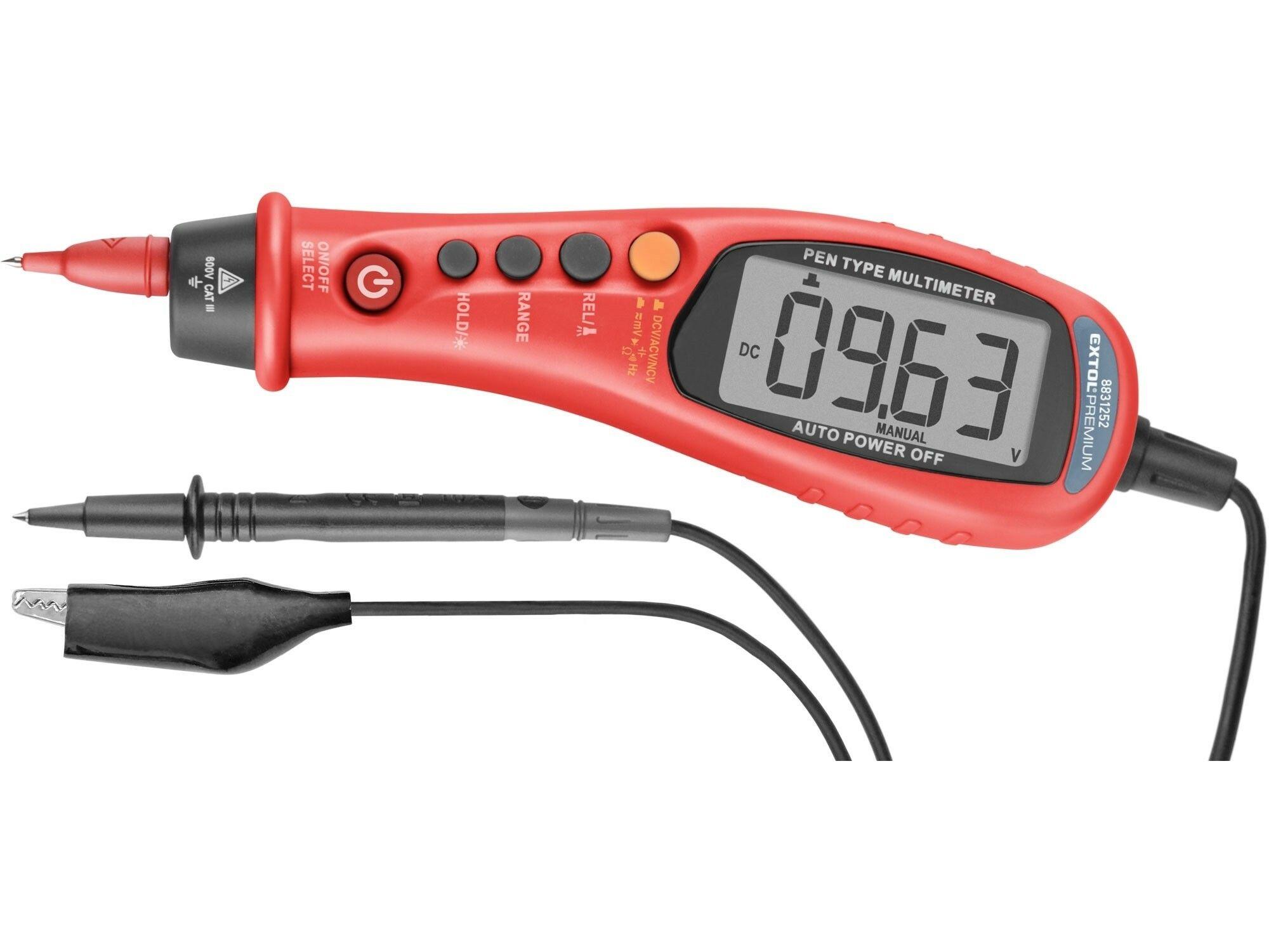 Multimetr digitální, tužka, True RMS, automatická volba rozsahů EXTOL-PREMIUM