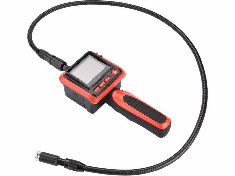 Kamera inspekční, hlava kamery o průměru 17mm, délka ohebného nástavce 1m, EXTOL PREMIUM