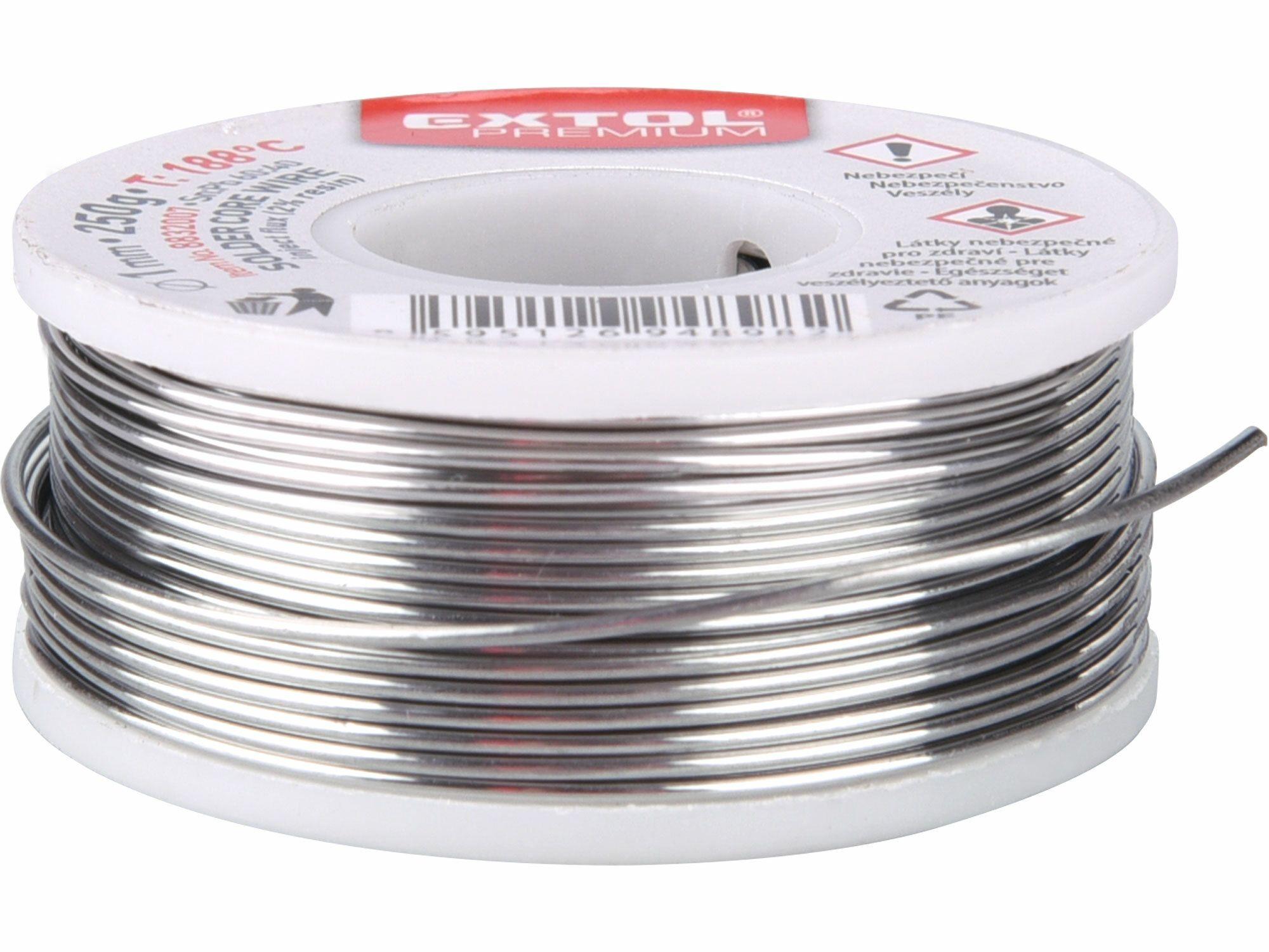 Drát pájecí trubičkový Sn60/Pb40 EXTOL-PREMIUM