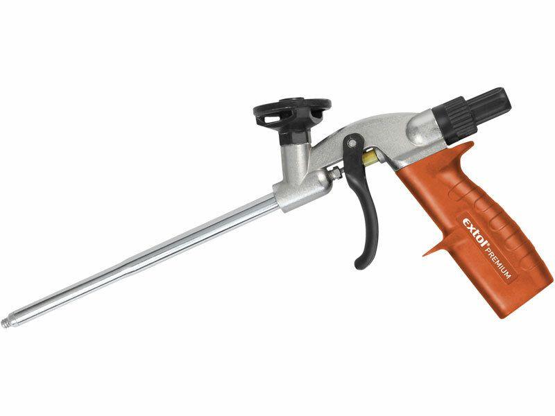 Pistole na PU pěnu PROFI, s regulací průtoku EXTOL-PREMIUM