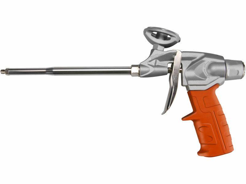 Pistole na PU pěnu HEAVY DUTY, s regulací průtoku, robustní kovový rám EXTOL-PREMIUM