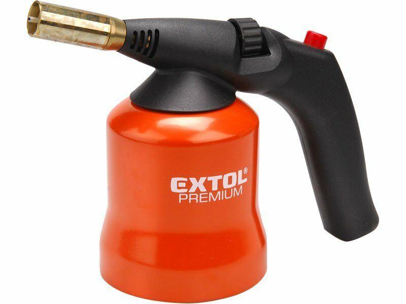Hořák s piezo zapalováním na propichovací kartuše, max. teplota 1200°C, EXTOL PREMIUM