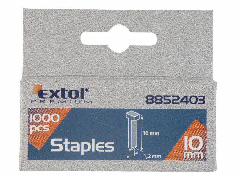 Hřebíky, balení 1000ks, 10mm, 2,0x0,52x1,2mm EXTOL-PREMIUM