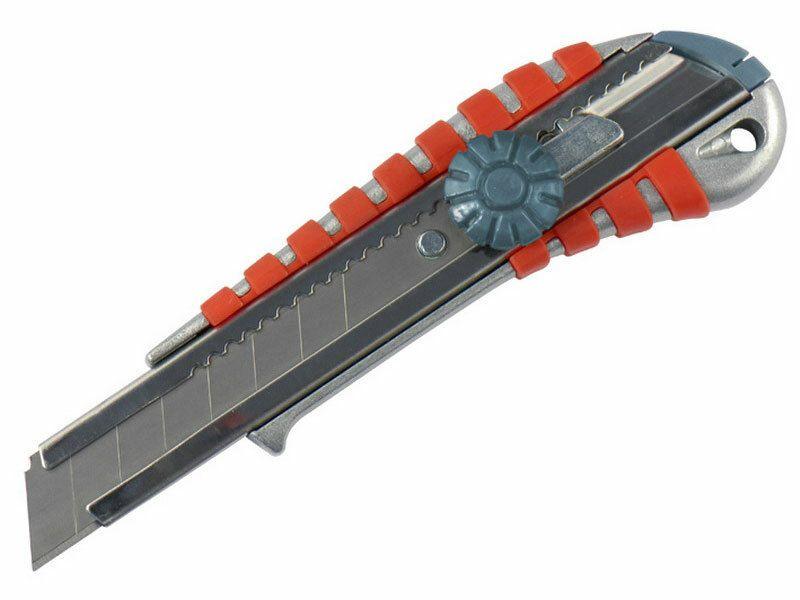 Nůž ulamovací kovový s kovovou výztuhou a kolečkem, 18mm EXTOL-PREMIUM