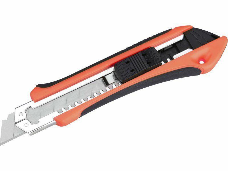 Nůž ulamovací s kovovou výstuhou a zásobníkem, 18mm Auto-lock EXTOL PREMIUM
