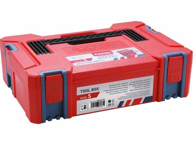 Box plastový, S velikost, rozměr 443x310x128mm, ABS EXTOL-PREMIUM