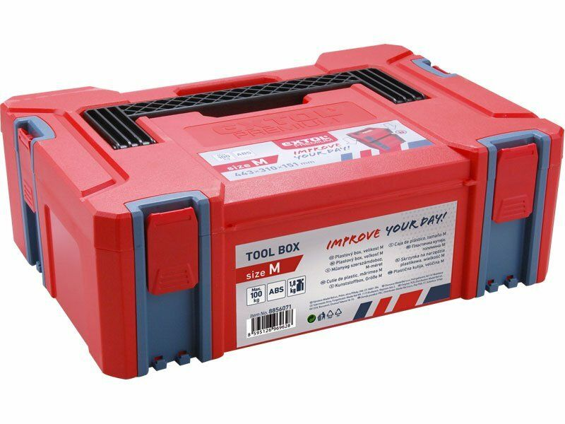 Box plastový, M velikost, rozměr 443x310x151mm, ABS EXTOL-PREMIUM