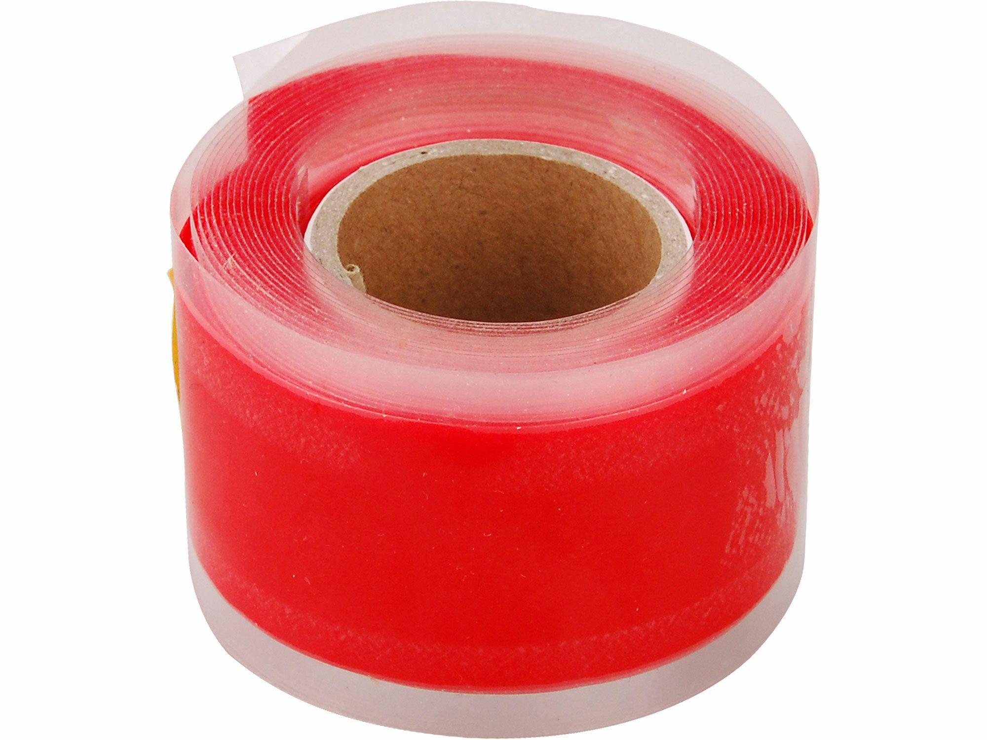 Páska silikonová samofixační, 25mm x 3,3m, červená barva EXTOL-PREMIUM