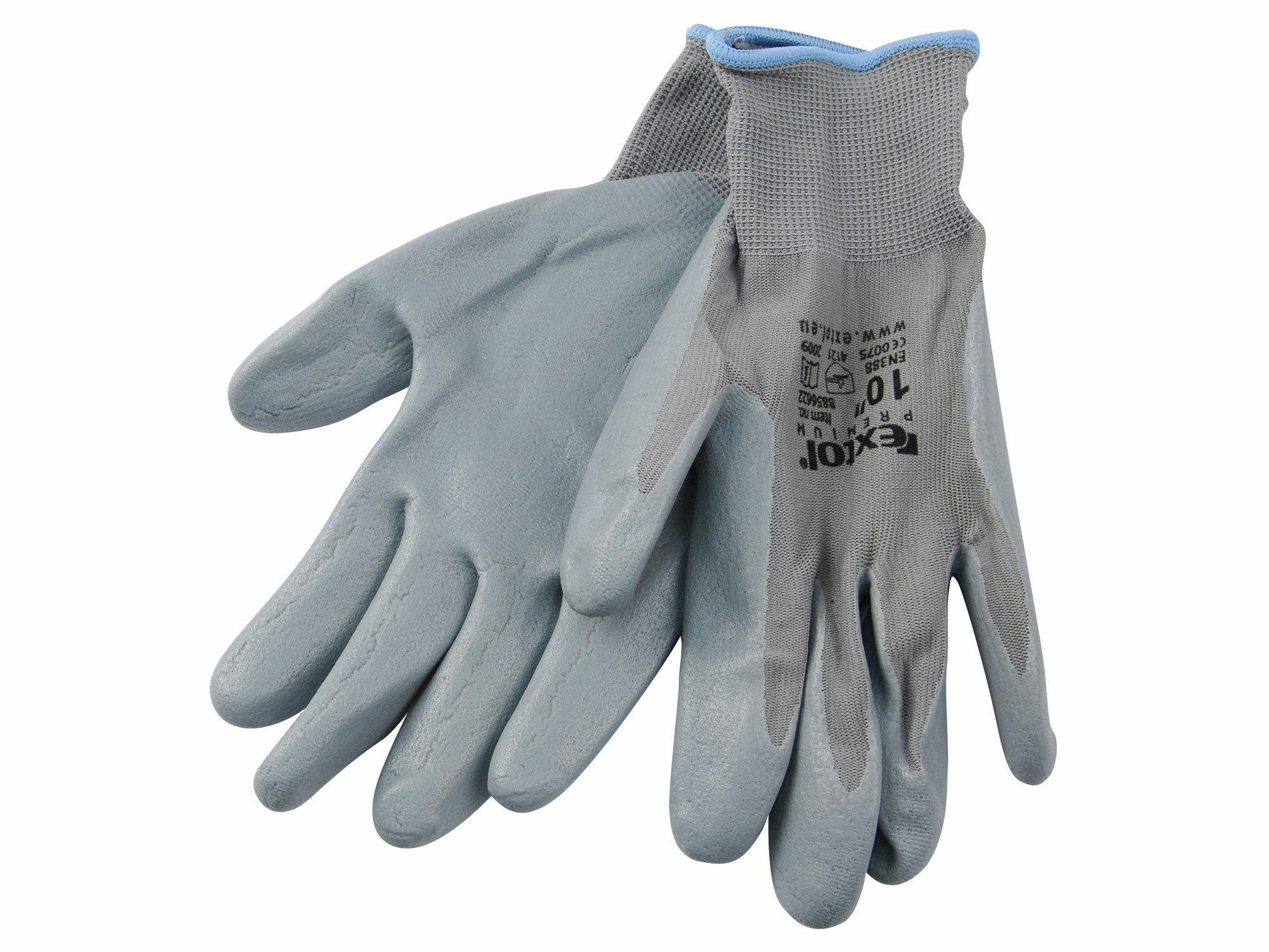 "Rukavice nylonové polomáčené v nitrilu, S/8"", velikost S/8"" EXTOL-PREMIUM"