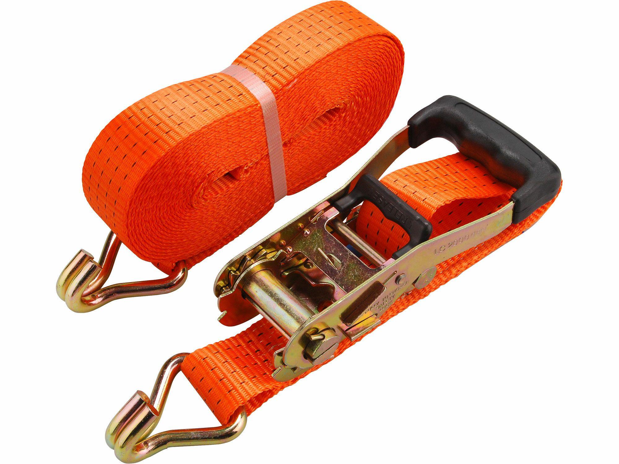 Pás upínací ráčnový s háky, 6m x 50mm, max. 4000kg, PES EXTOL-PREMIUM