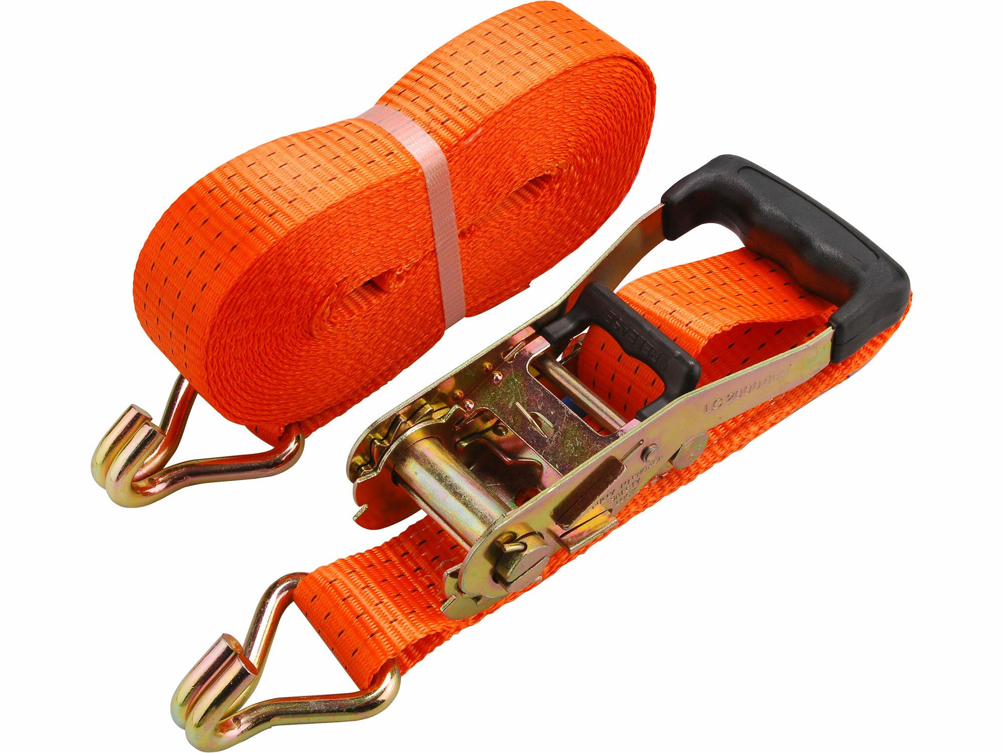 Pás upínací ráčnový s háky, 10m x 50mm, max. 4000kg, PES, EXTOL PREMIUM