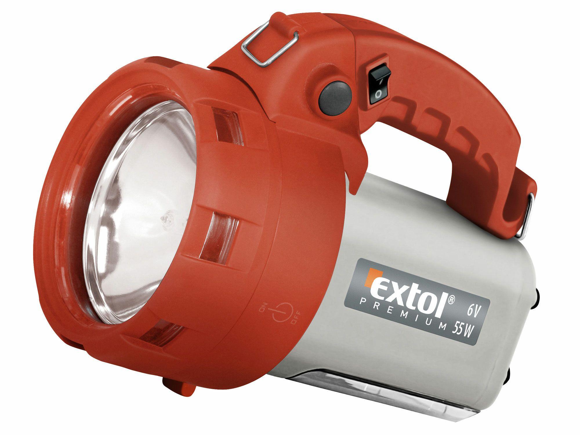 Svítilna nabíjecí halogenová s bočním světlem, 55W, EXTOL PREMIUM
