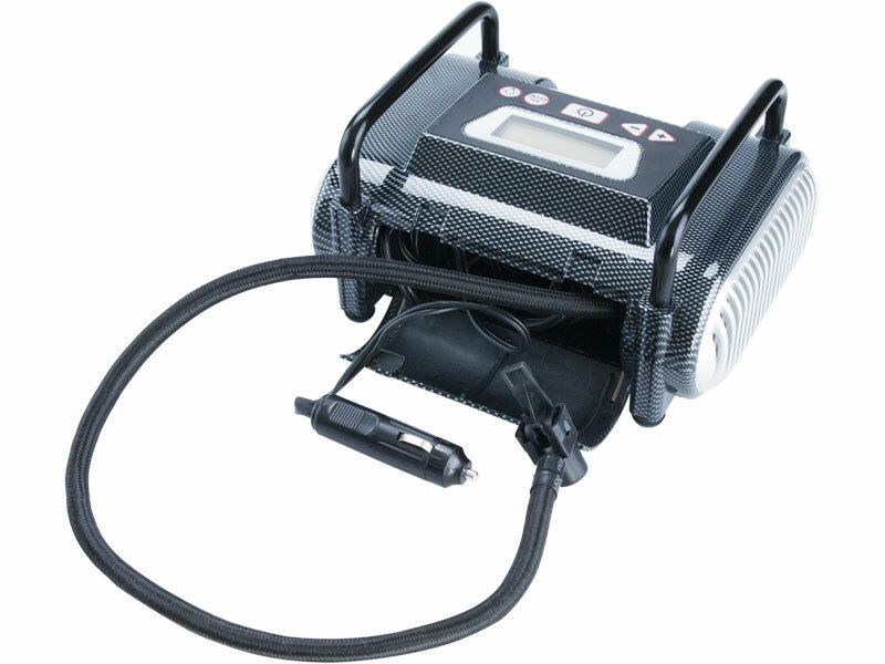 Kompresor auto 12V, automatický s LCD a světlem, 12V, 6,9bar, CC 140 EXTOL-PREMIUM