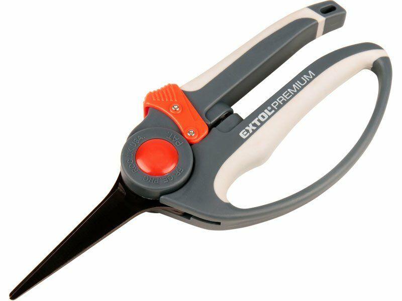 Nůžky zahradnické přímé, 215mm, rukojeť s chráničem prstů EXTOL-PREMIUM
