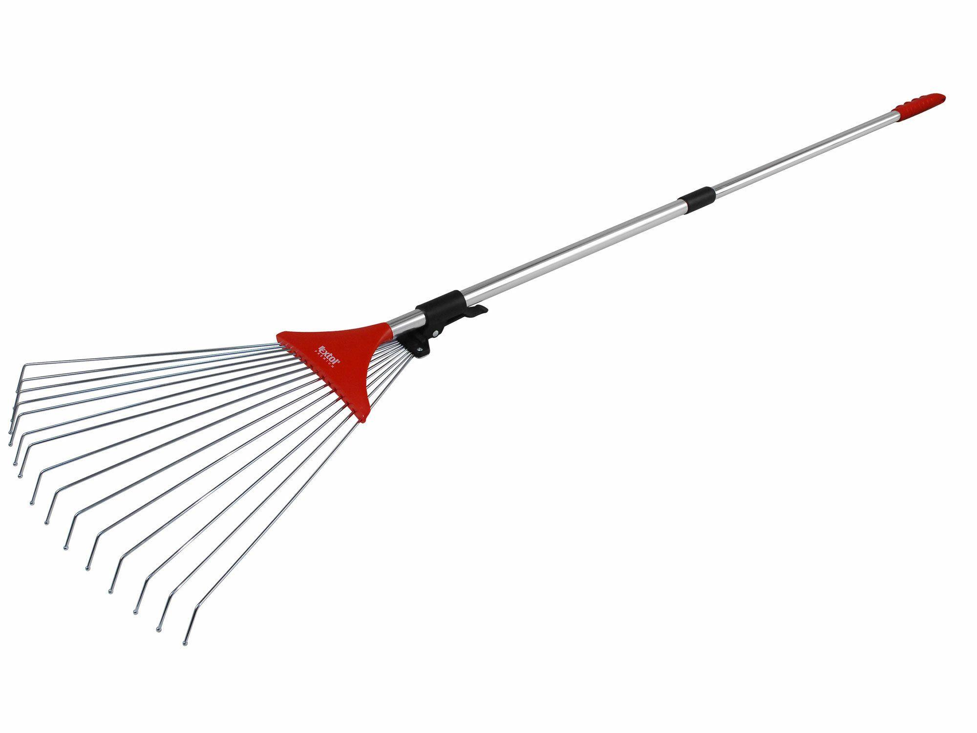Hrábě nastavitelné s teleskopickou násadou, délka 80-158cm, šířka 18-59cm EXTOL-PREMIUM