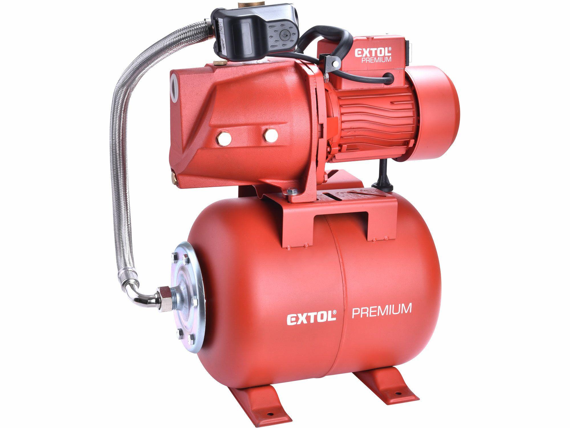 Čerpadlo proudové s tlakovou nádobou, 750W, 5270l/hod, EXTOL PREMIUM, 8895095