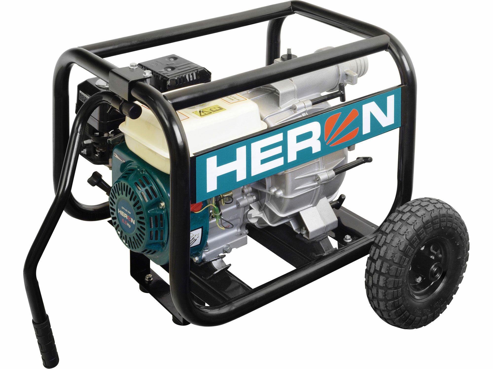 """Čerpadlo motorové kalové 6,5HP, 3""""/3"""" (76mm), 1300l/min = 78m3/hod, HERON, záruka 3 roky"""