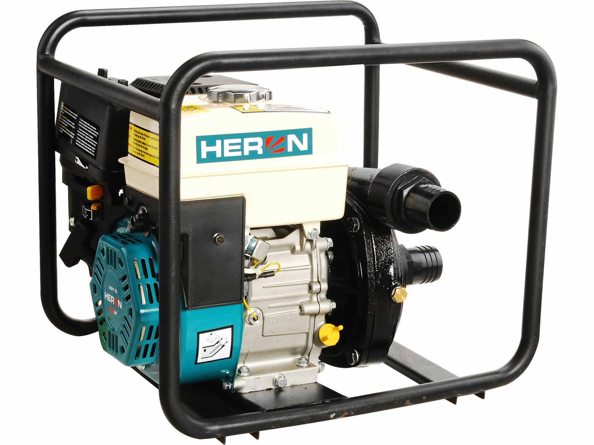 Čerpadlo motorové tlakové 6,5HP, 500l/min, 2´´ (50mm), 500l/min =30m3/hod, záruka 3 roky HERON