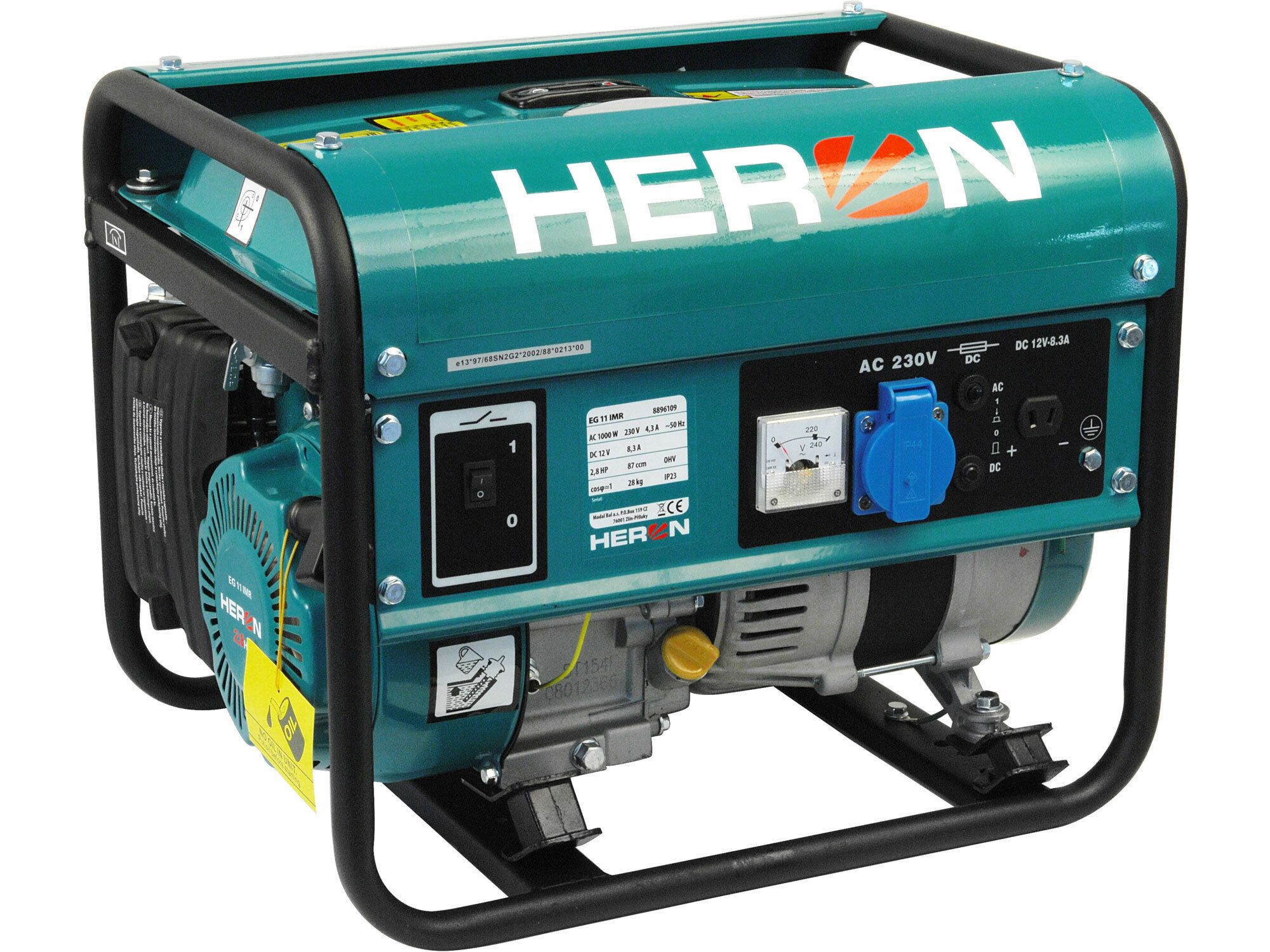 Elektrocentrála benzínová 2,8HP, 1,1kW, EG 11 IMR, záruka 3 roky HERON
