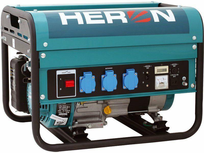Elektrocentrála benzínová 5,5HP, 2,3kW,EGM 25 AVR, záruka 3 roky HERON