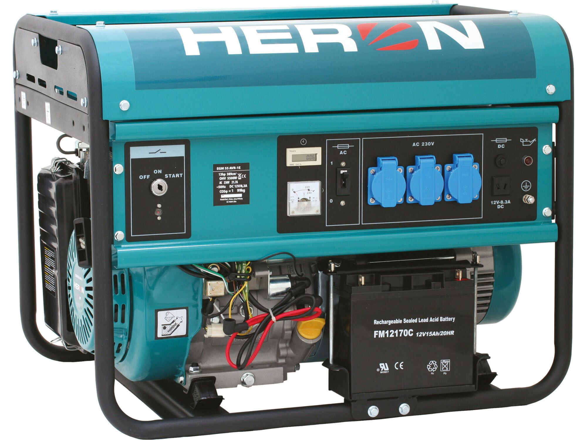 Elektrocentrála benzínová 13HP, pro svařování, elektrický start, 5,5kW, záruka 3 roky HERON