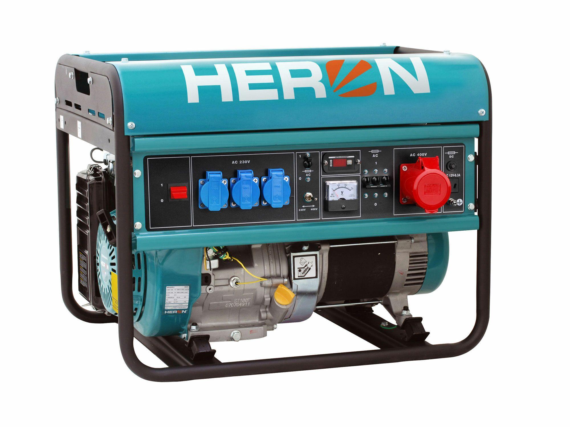 Elektrocentrála benzínová 15HP, 6,8kW (400V)/5,5kW (230V), HERON, záruka 3 roky