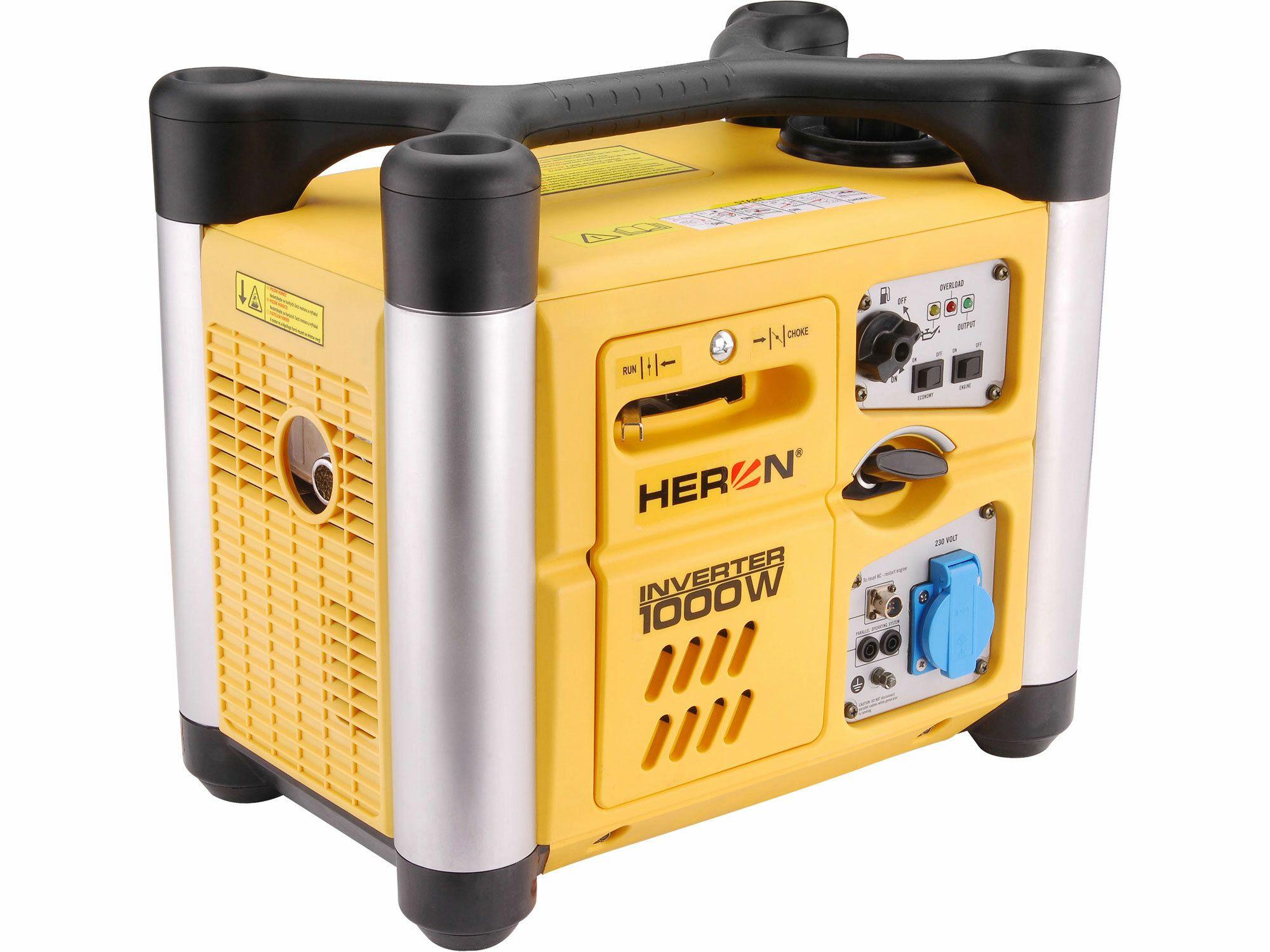 Elektrocentrála digitální invertorová 2,0HP, 1,0kW, HERON, DGI 10 SP, záruka 3 roky