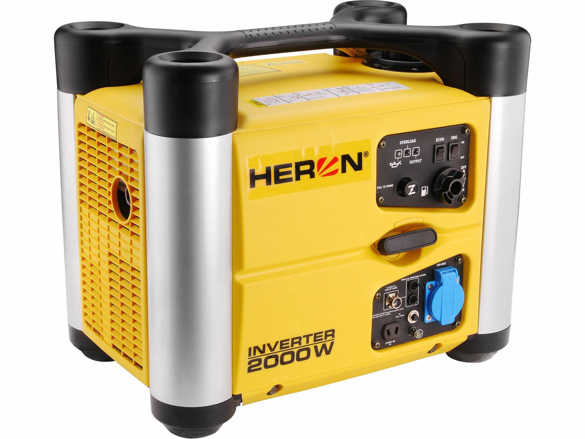 Elektrocentrála digitální invertorová 3,0HP, 2,0kW, HERON, DGI 20 SP, záruka 3 roky