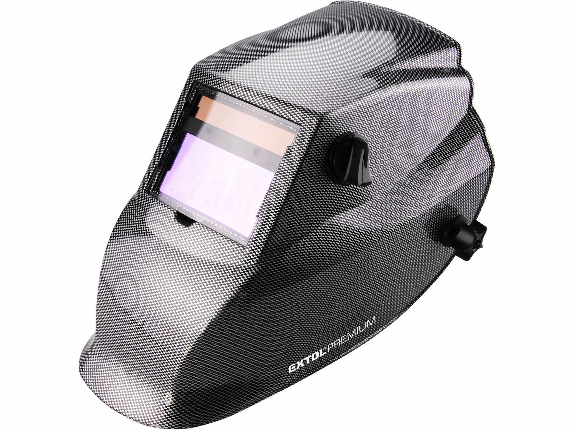 Kukla svářecí samostmívací, karbonová, 100x50mm, 1/25000s EXTOL-PREMIUM