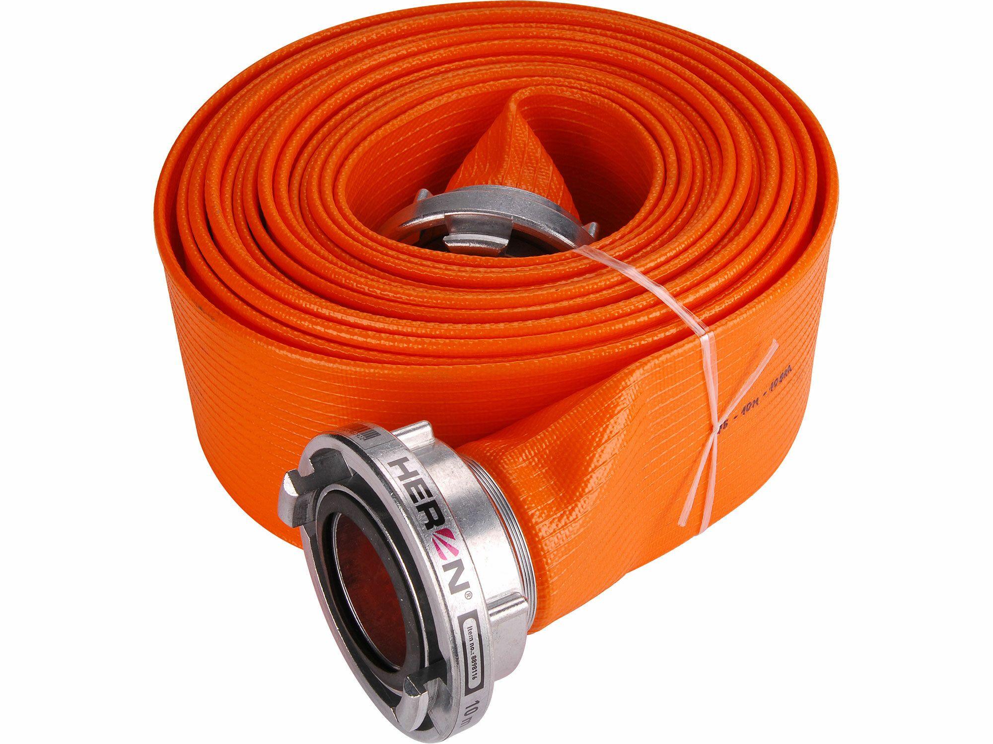 "Hadice B75 PVC Orange 10m se spojkami, 3"", 10m, pro 8895106, 8895105, 8895102, HERON"