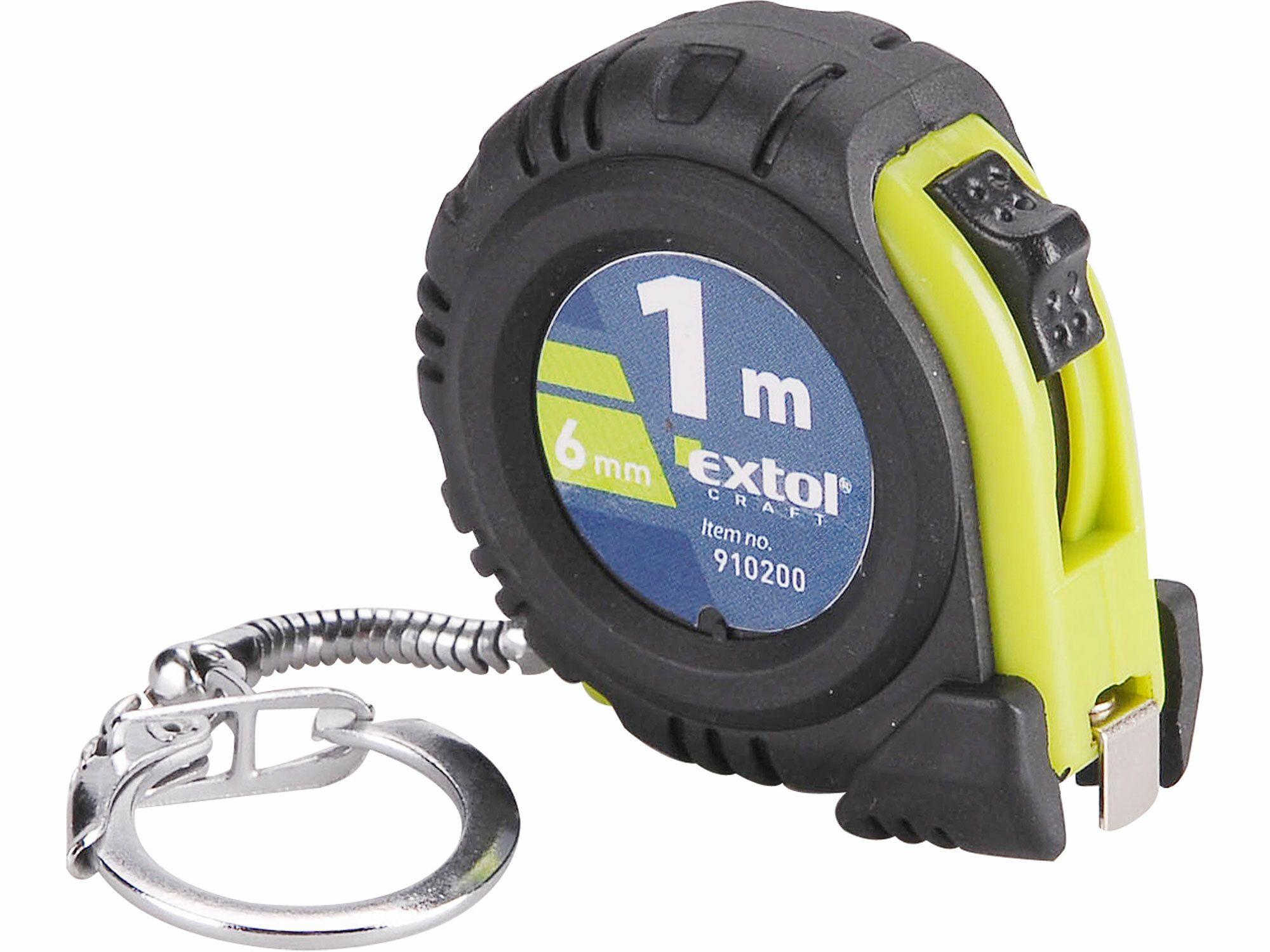 Metr svinovací přívěšek, 1m, š. pásku 6mm, tělo z kvalitního ABS plastu EXTOL-CRAFT
