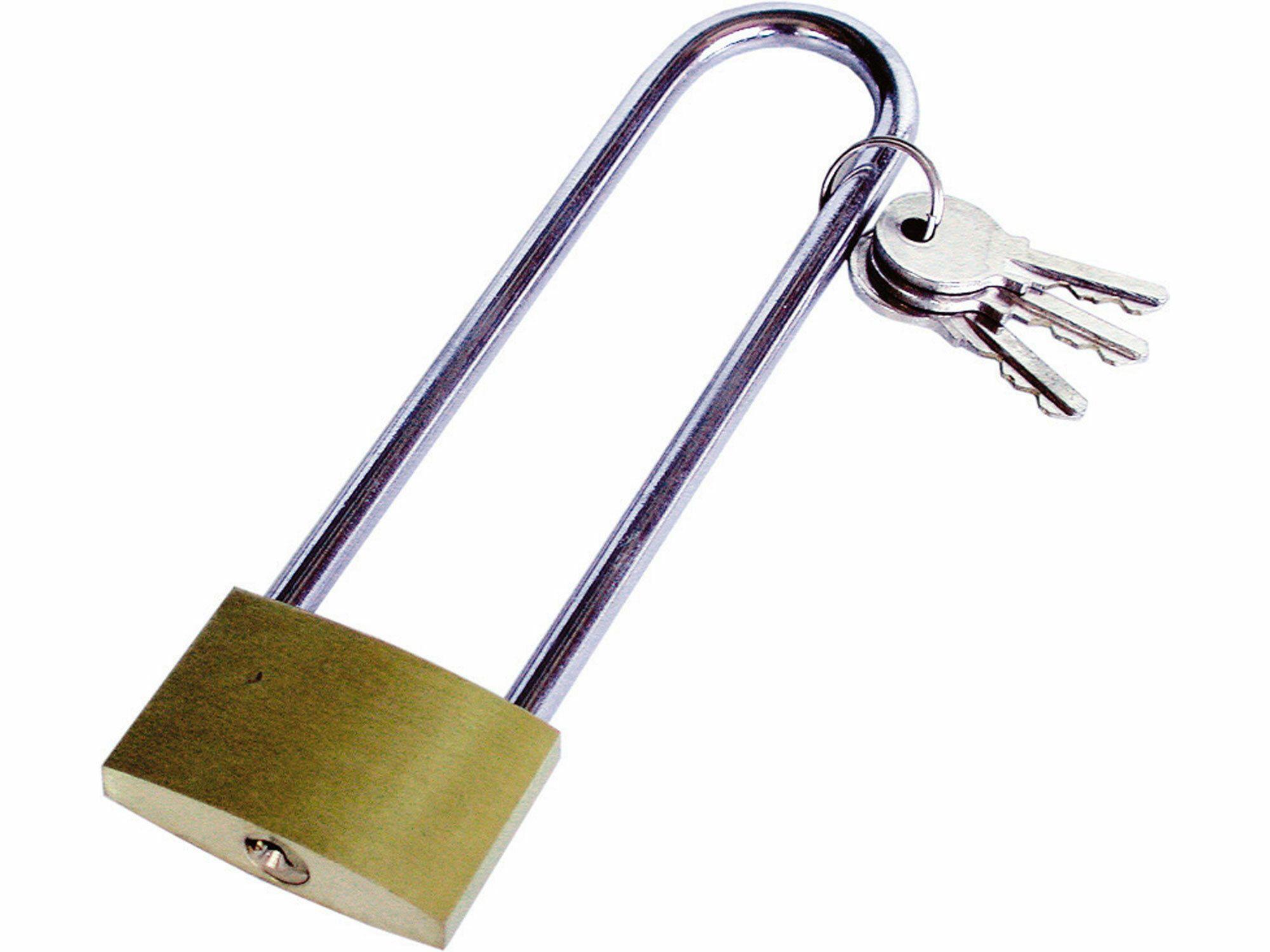 Zámek mosazný na kolo, 40x105mm, 3 klíče, EXTOL CRAFT