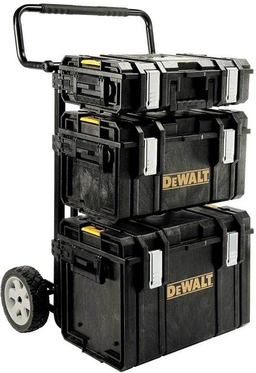 TOUGH SYSTEM DeWalt, vozík s držáky + DS150 + DS300 + DS400