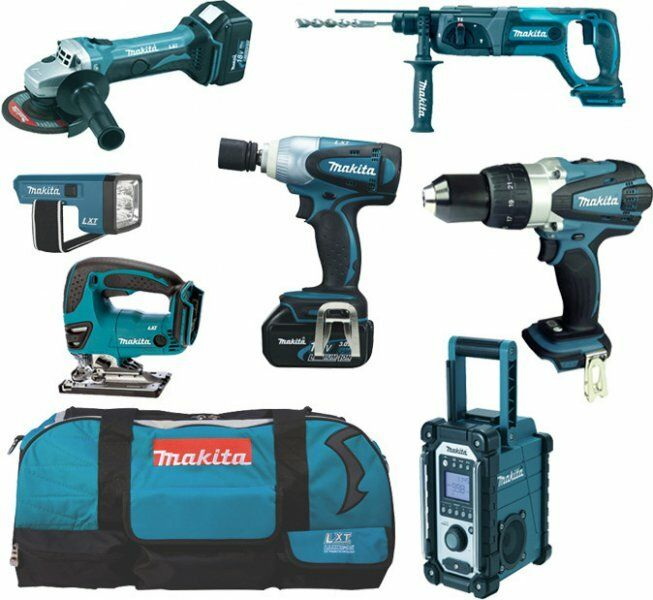 Aku sada Makita DLX7000X4, 7ks, 4x baterie, nabíječka, taška
