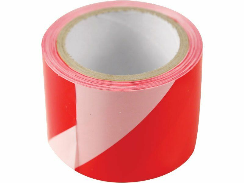 Páska výstražná červeno-bílá, 75mm x 250m, PE, EXTOL CRAFT