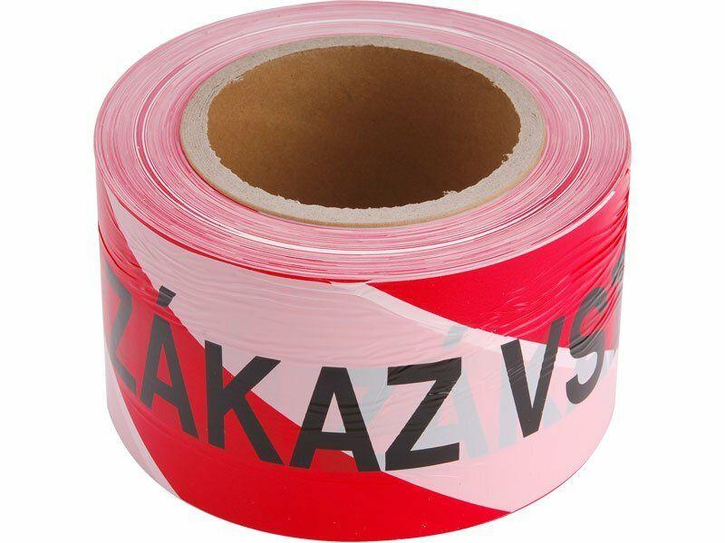 Páska výstražná červeno-bílá ZÁKAZ VSTUPU, 75mm x 250m, PE EXTOL CRAFT