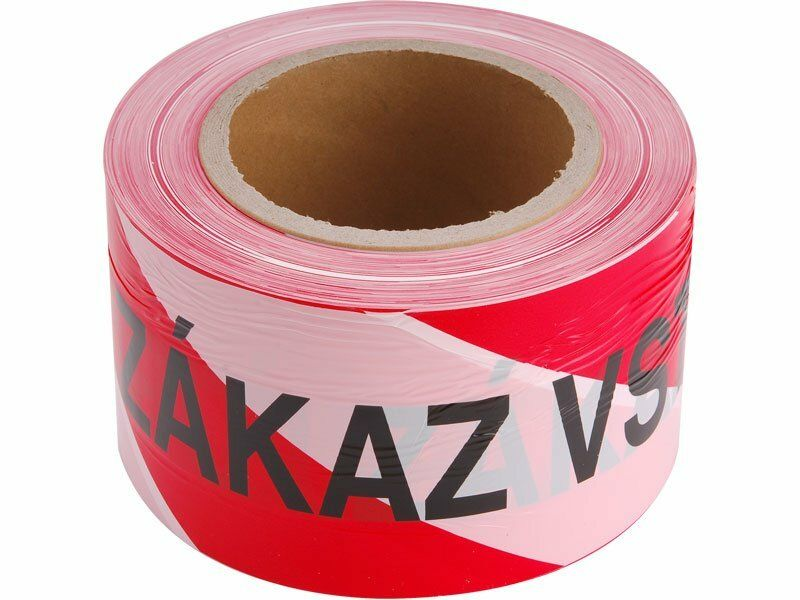 Páska výstražná červeno-bílá ZÁKAZ VSTUPU, 75mm x 250m, PE EXTOL-CRAFT