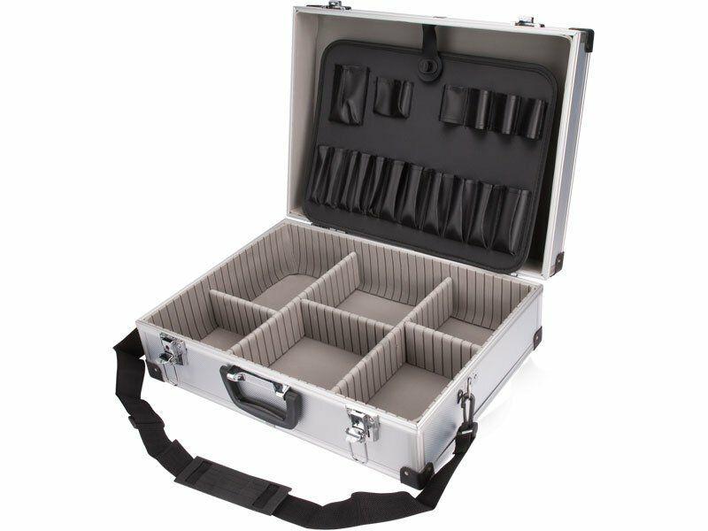 Kufr na nářadí hliníkový, 460x330x150mm, stříbrná barva