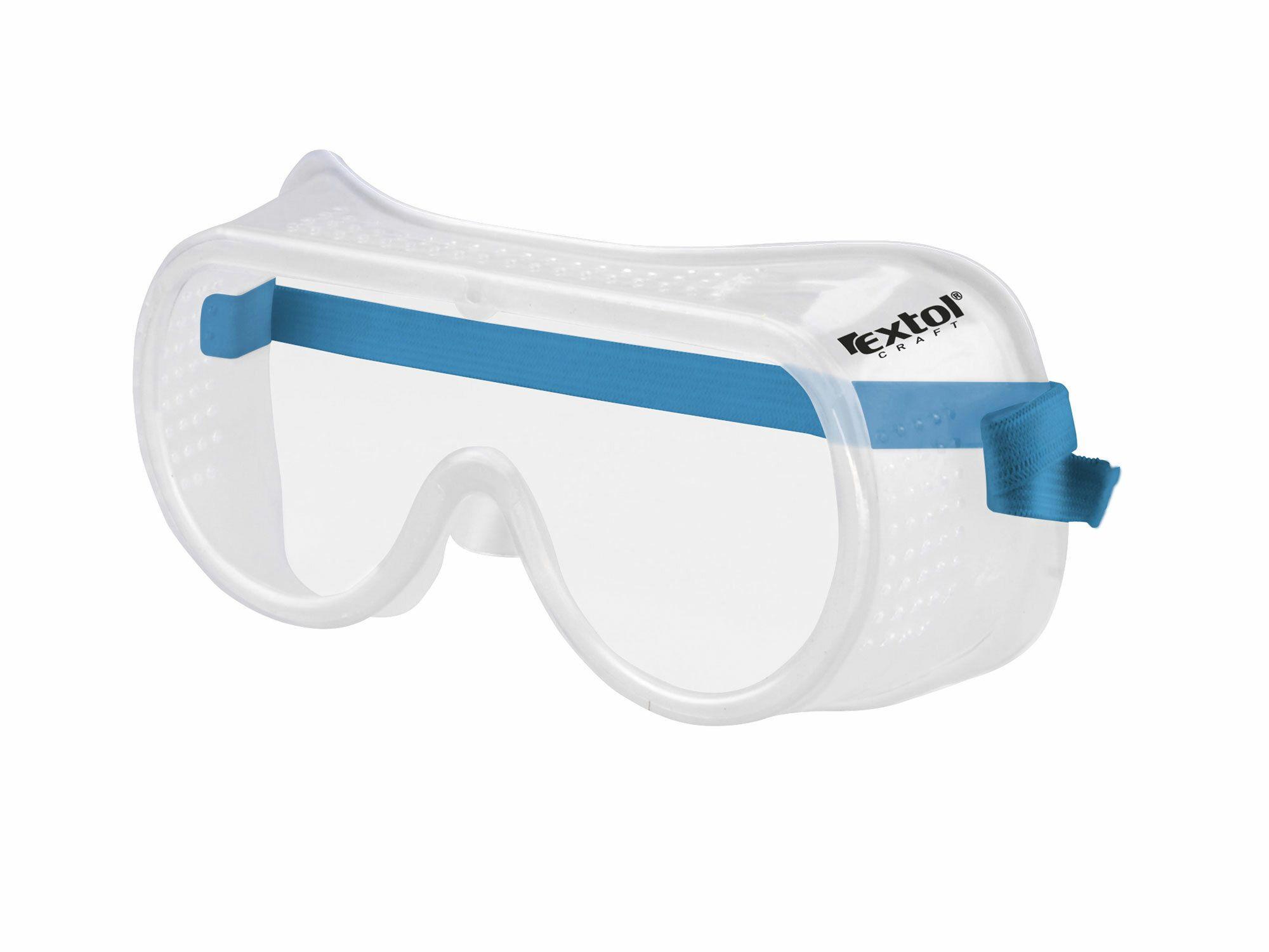 Brýle ochranné přímo větrané, čirý, polykarbonátový plochý zorník třídy F, EXTOL CRAFT