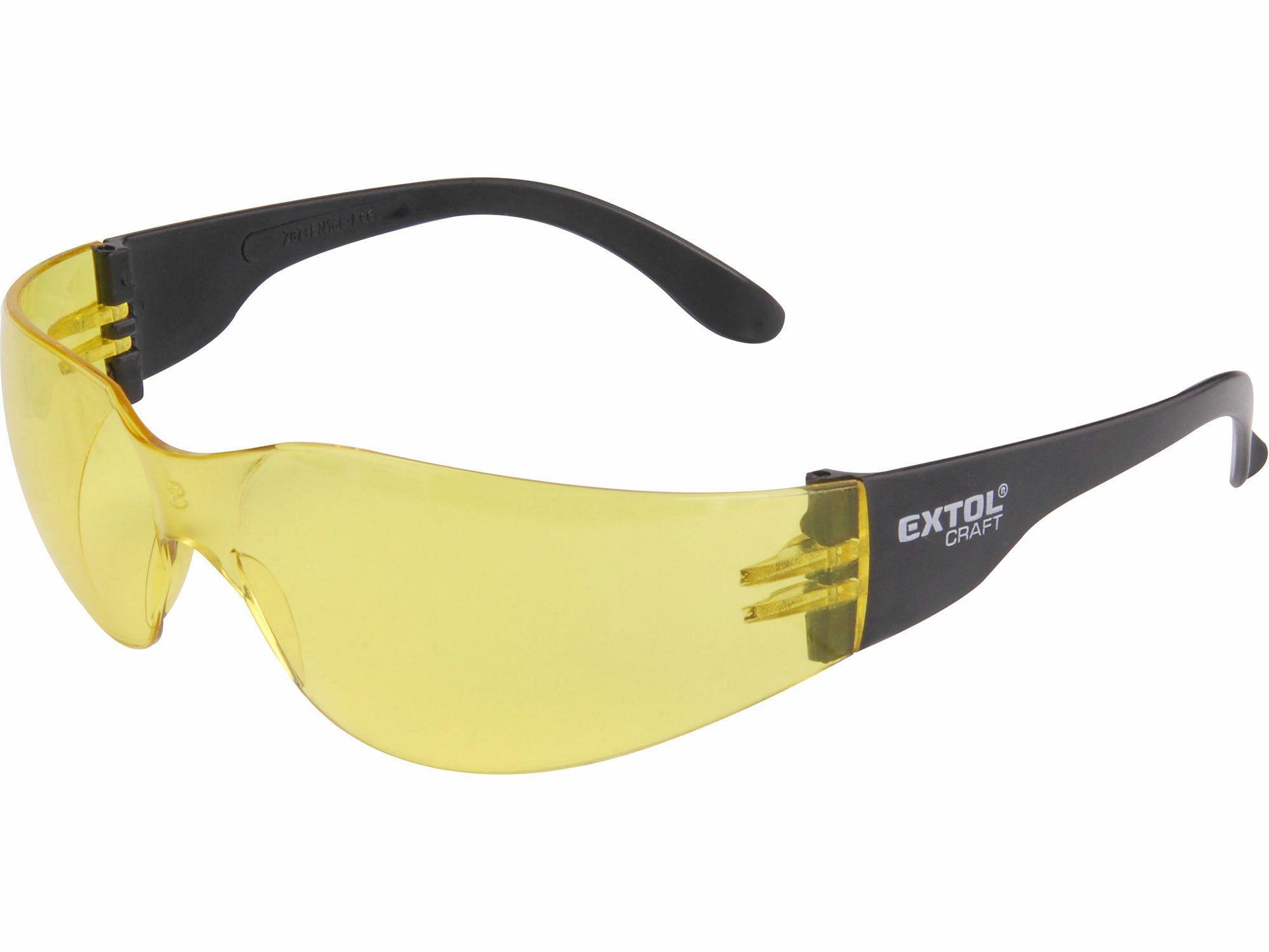 Brýle ochranné, žluté EXTOL-CRAFT