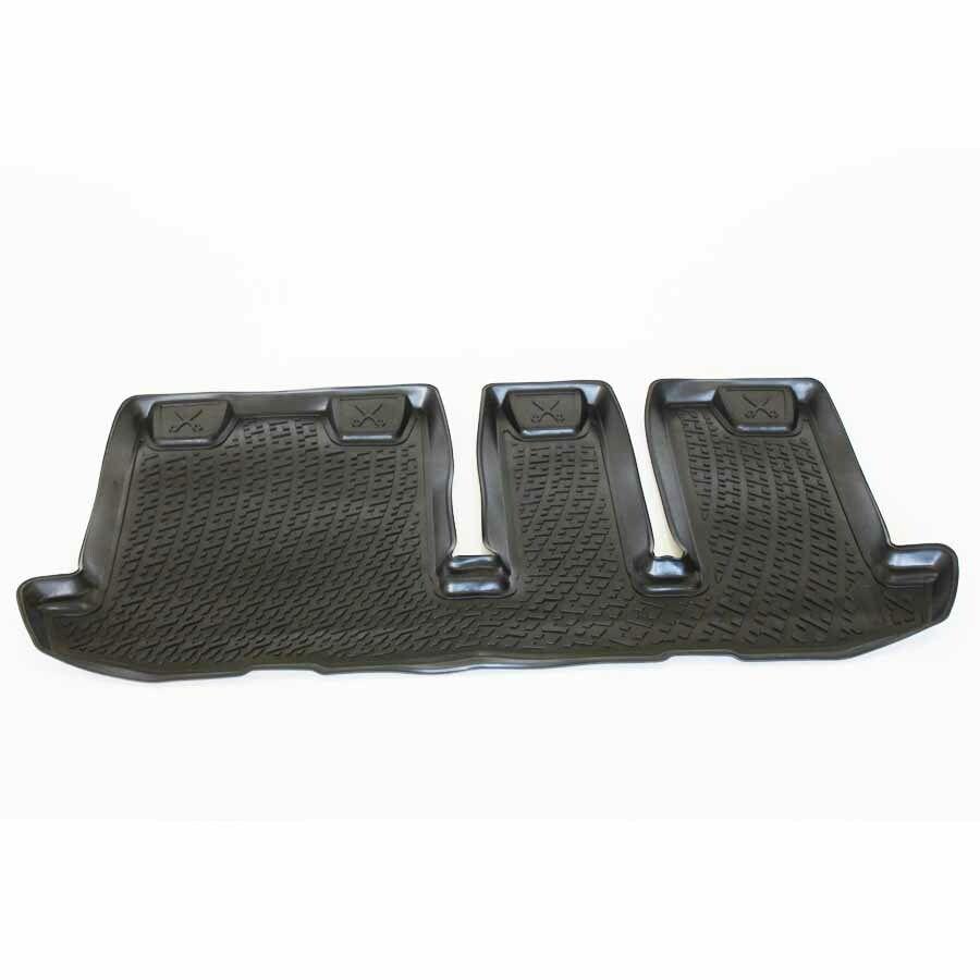 Gumové koberce Nissan Pathfinder IV (R52) (třetí řada sedadel) (12-)  (3D) SIXTOL