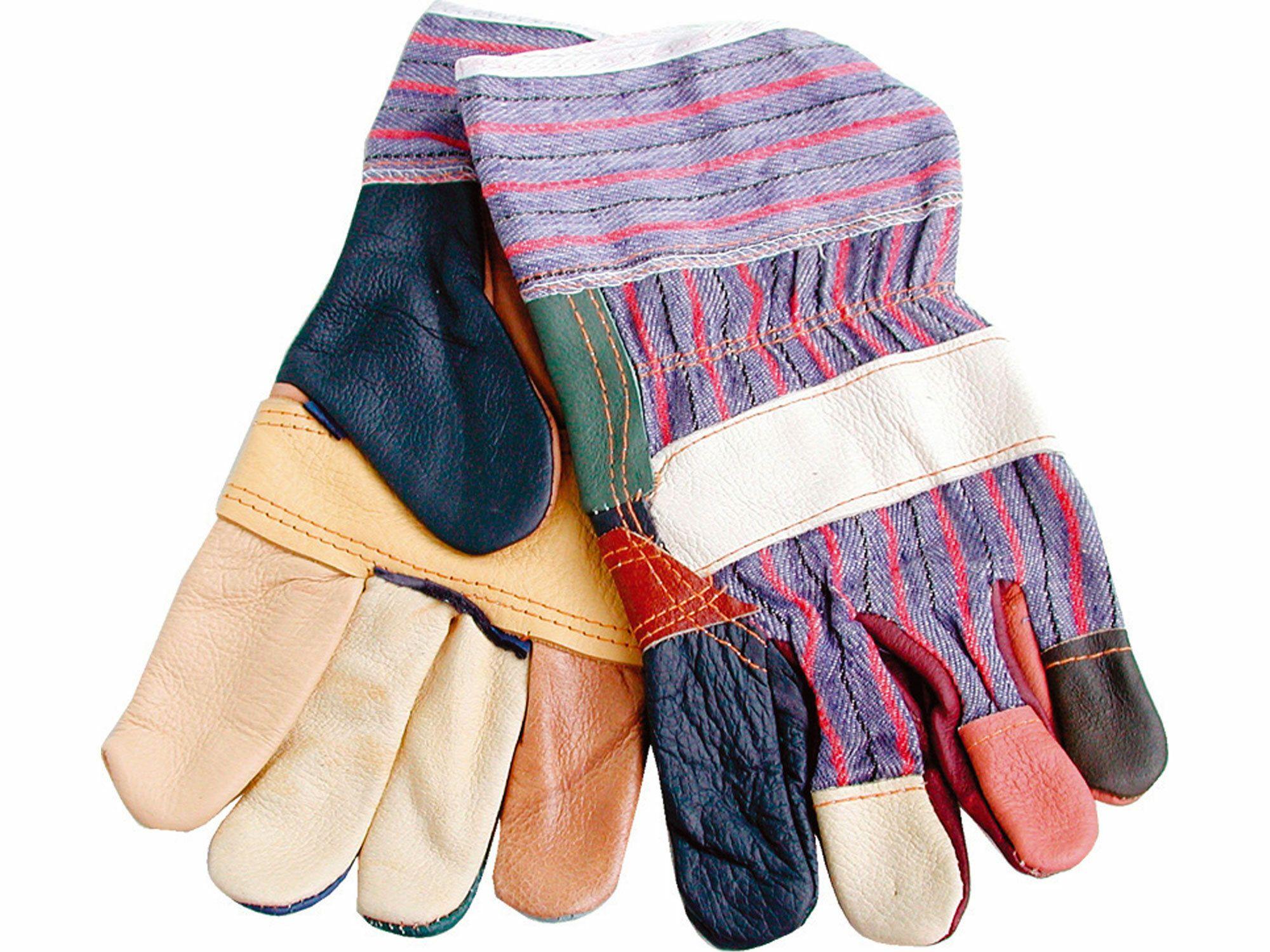 """Rukavice kožené s vyztuženou dlaní, 10"""", velikost 10"""""""