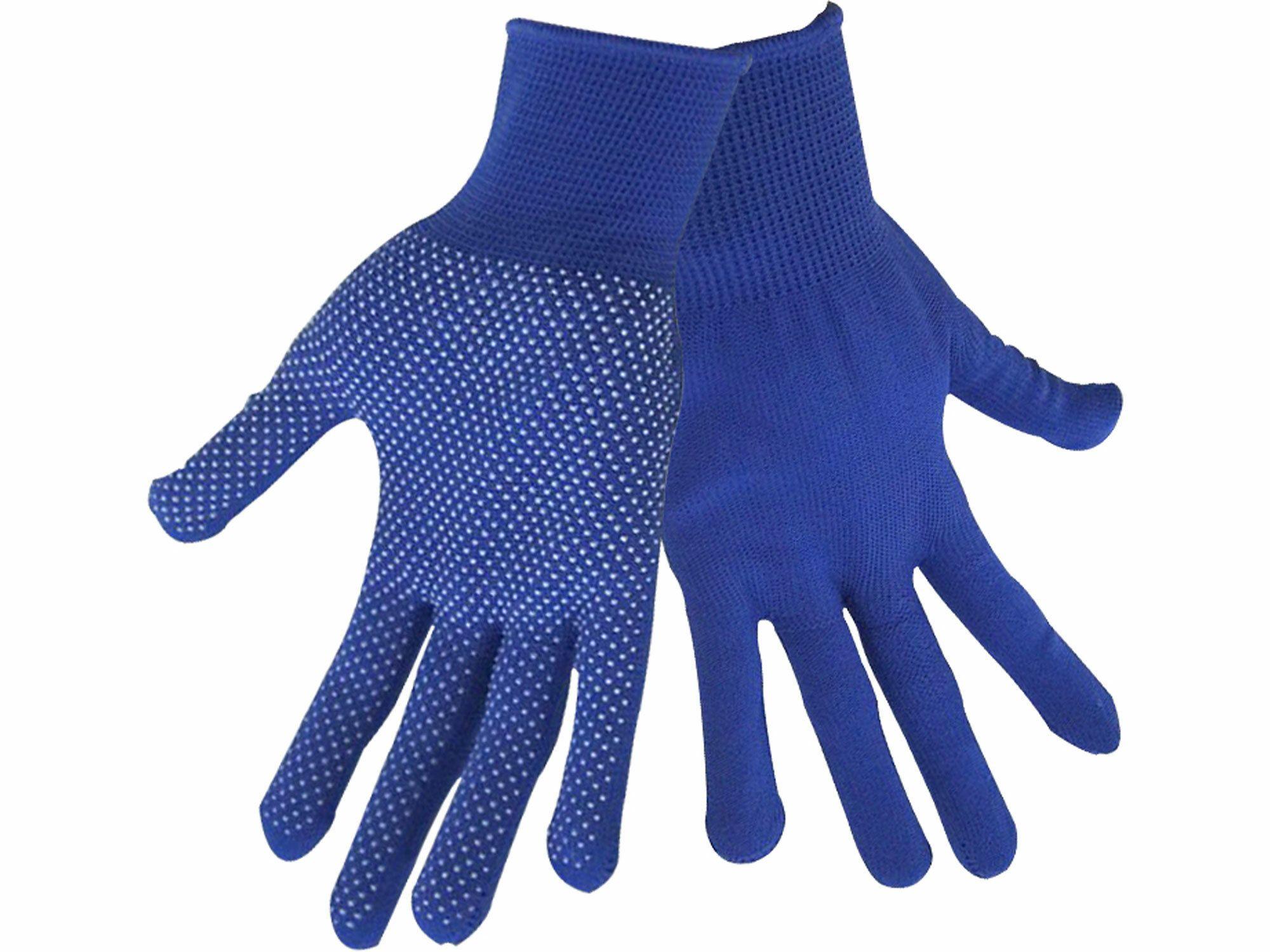 """Rukavice z polyesteru s PVC terčíky na dlani, velikost 10"""" EXTOL-CRAFT"""