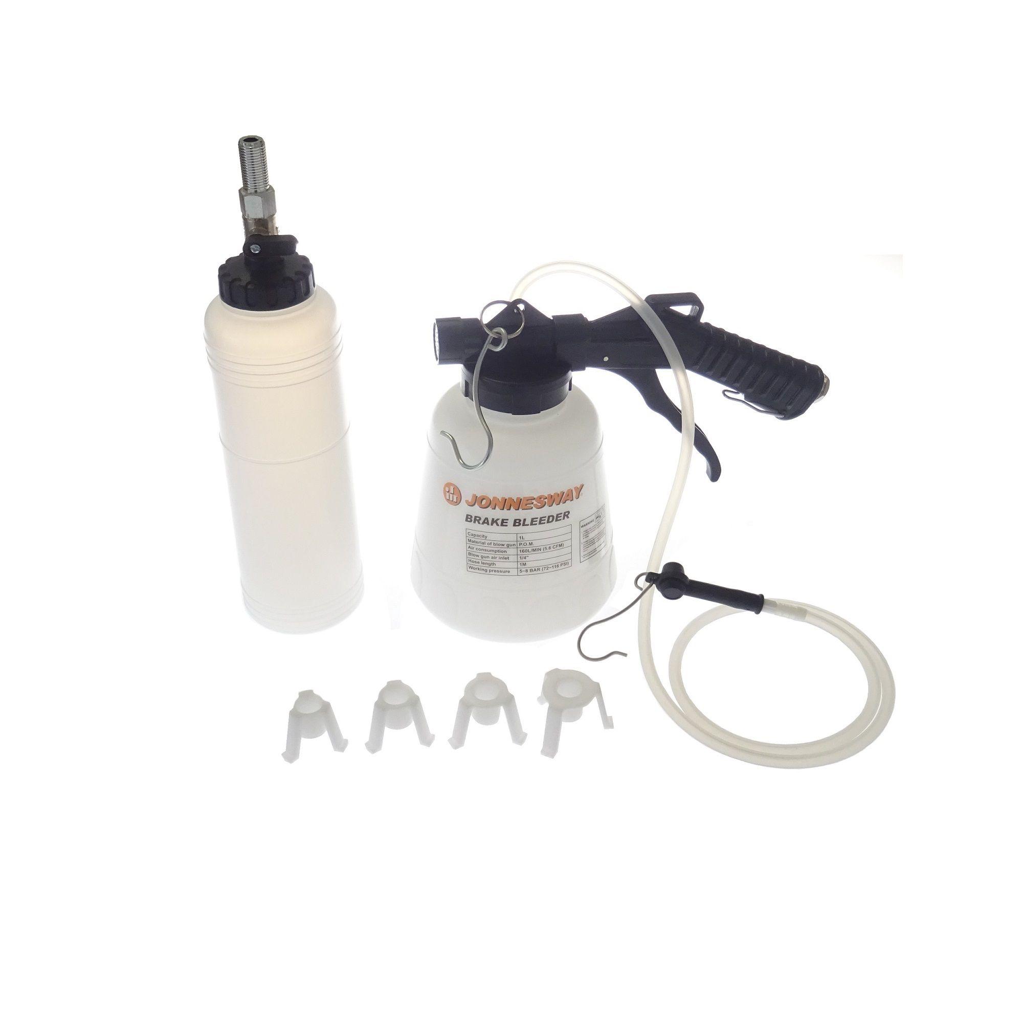 Přístroj na výměnu brzdové kapaliny a odvzdušnění brzd 0,75 l + láhev - JONNESWAY AE300214