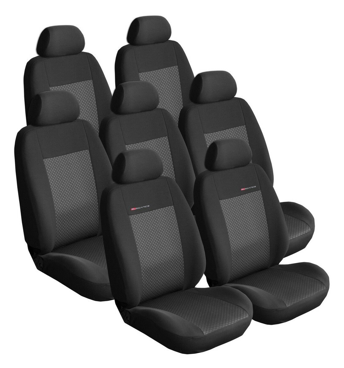 Autopotahy Citroen C4 Picasso I, od r.2006-2013, 7 míst, černé SIXTOL