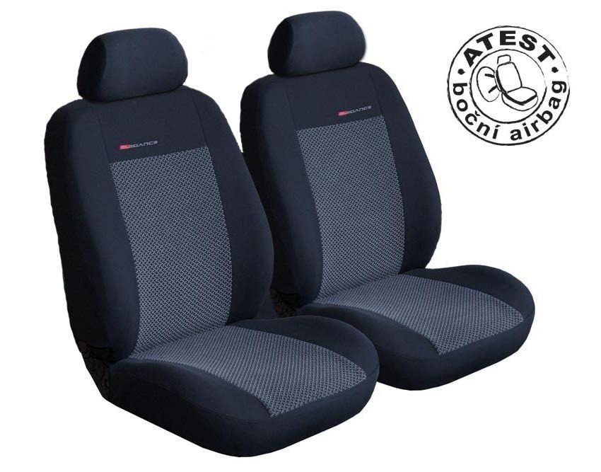 Autopotahy Volkswagen Caddy III, 2 místa, od r. 2003, šedo černé SIXTOL