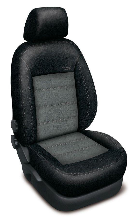 Autopotahy kožené Mazda 5 I, 7 míst, od r. 2005-2010, AUTHENTIC VELVET, černošedé SIXTOL