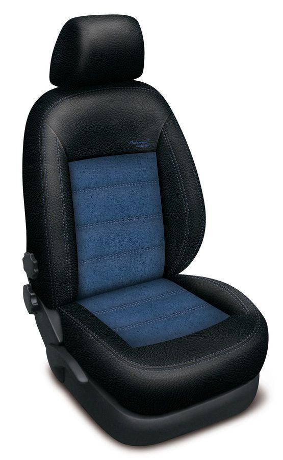 Autopotahy kožené Mazda 5 I, 7 míst, od r. 2005-2010, AUTHENTIC VELVET, černomodré SIXTOL
