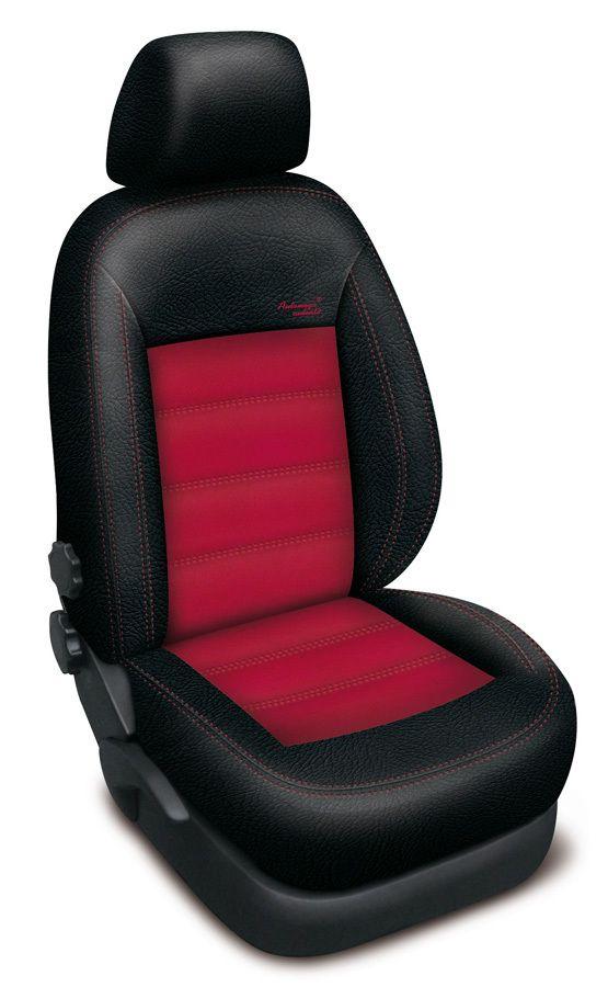 Autopotahy kožené Mazda 5 I, 7 míst, od r. 2005-2010, AUTHENTIC VELVET, černočervené SIXTOL