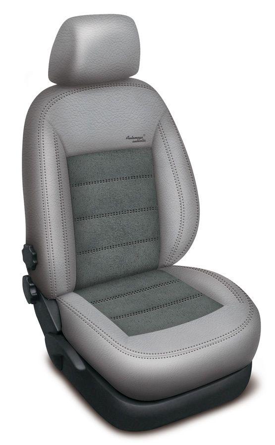 Autopotahy kožené Mazda 5 I, 7 míst, od r. 2005-2010, AUTHENTIC VELVET, šedé SIXTOL